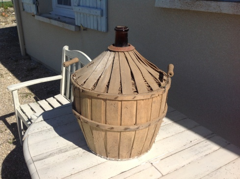 wicker carboy